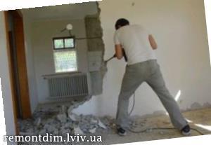 Демонтаж бетонних перегородок Львів :: Ціни