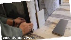 Облицювання керамічною плиткою відкосів
