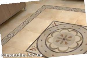 Облицювання підлоги художньої керамічною плиткою з підбором малюнка