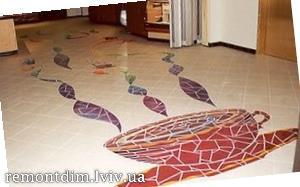 Облицювання підлоги художньої керамічною плиткою