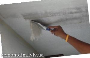 Фарбування стель водоемульсійними фарбами Львів :: Ціни