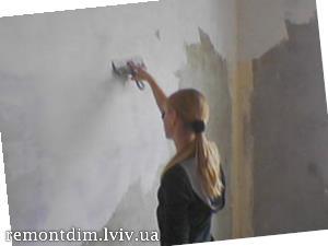 Шпаклювання стін під шпалери або декоративну штукатурку Львів :: Ціни