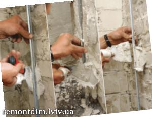 Штукатурка внутрішніх стін по маяках Львів :: Ціни