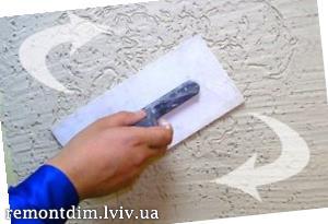 Влаштування декоративної штукатурки на стінах Львів :: Ціни