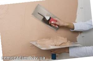 Влаштування декоративної штукатурки на стінах