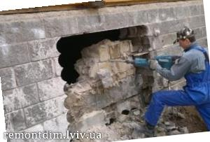 Демонтаж бетонних перегородок