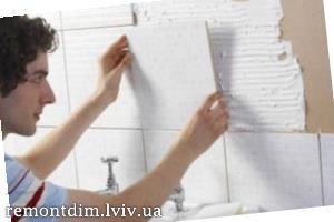 Встановлення керамічної плитки на стіни