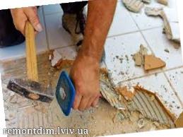 Демонтаж керамічної плитки Львів