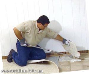 Демонтаж підлоги з лінолеуму