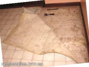 Демонтаж підлоги з лінолеуму Львів :: Ціни