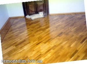 Демонтаж підлоги з паркетної дошки Львів :: Ціни
