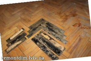 Демонтаж підлоги з паркетної дошки