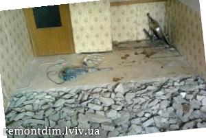 Демонтаж цементної стяжки Львів :: Ціни