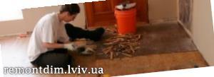 Зняття рулонного покриття підлоги Львів :: Ціни